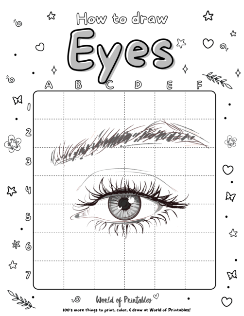 How To Draw a Eyes 4