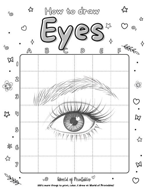 How To Draw a Eyes 5