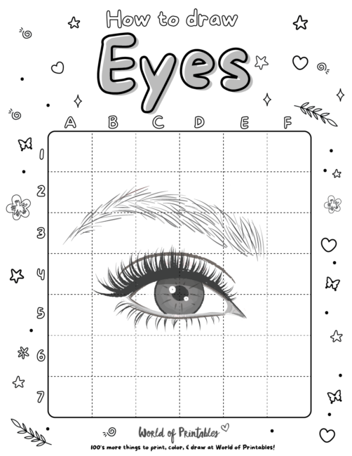 How To Draw a Eyes 6