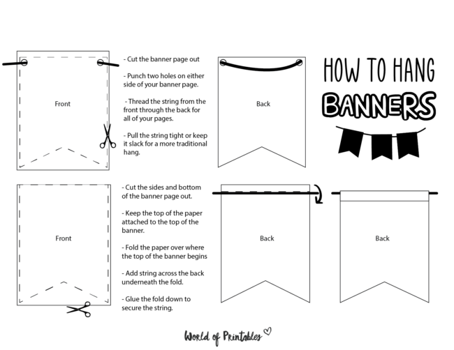 How To Hang Your Banners - World of Printables