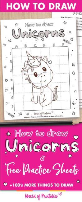 How to draw unicorns easy