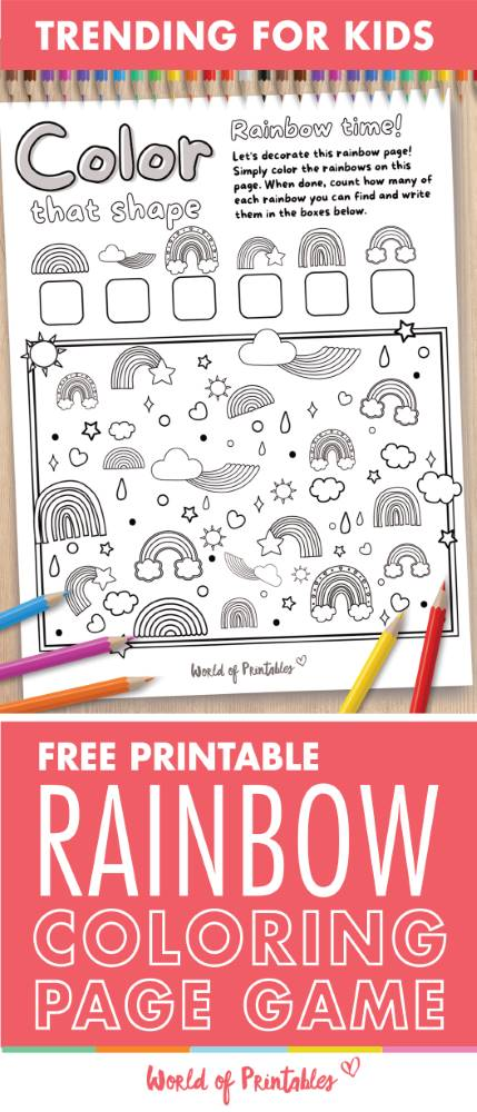 I Spy Rainbow Coloring Page Game