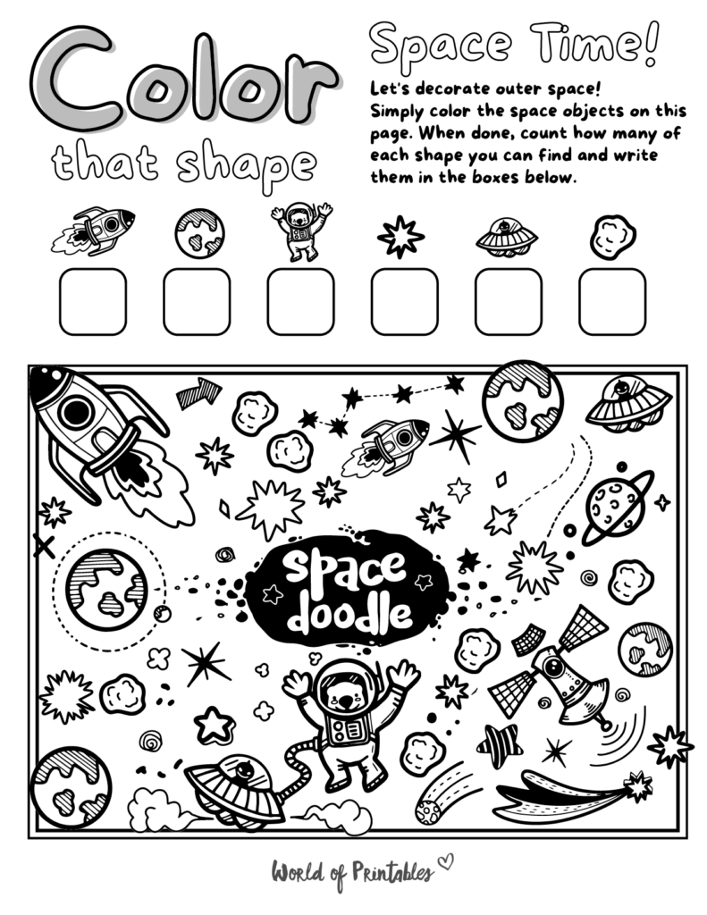 I Spy Space Coloring Page