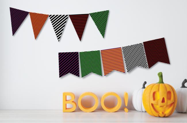 Pattern Halloween Banners