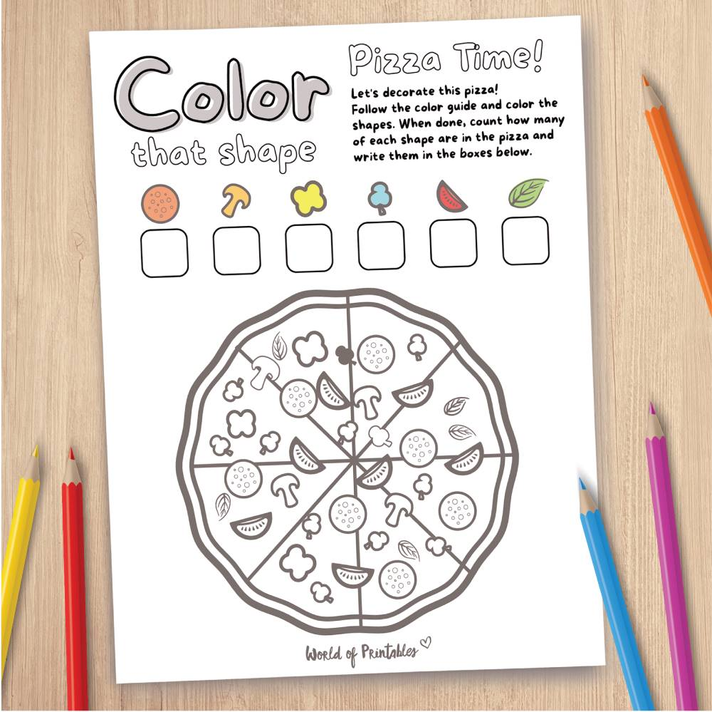 Pizza Coloring Page Game