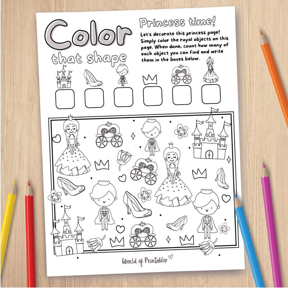 Princess Coloring Page Game