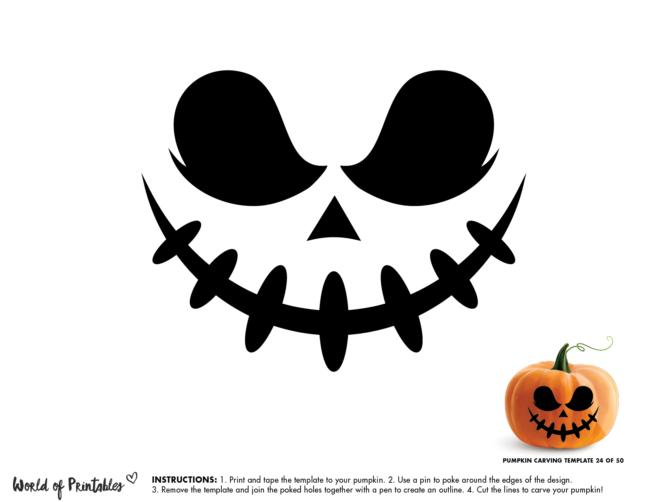 Pumpkin Carving Stencil Template - pumpkin king