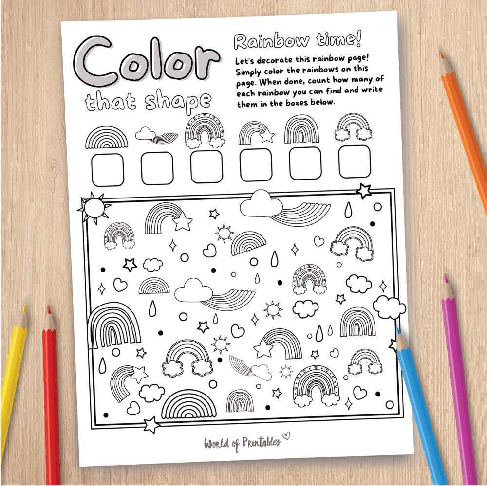 Rainbow Coloring Page Game