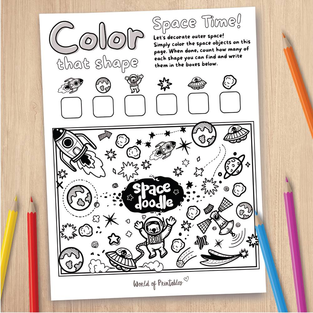 Space Coloring Page Game