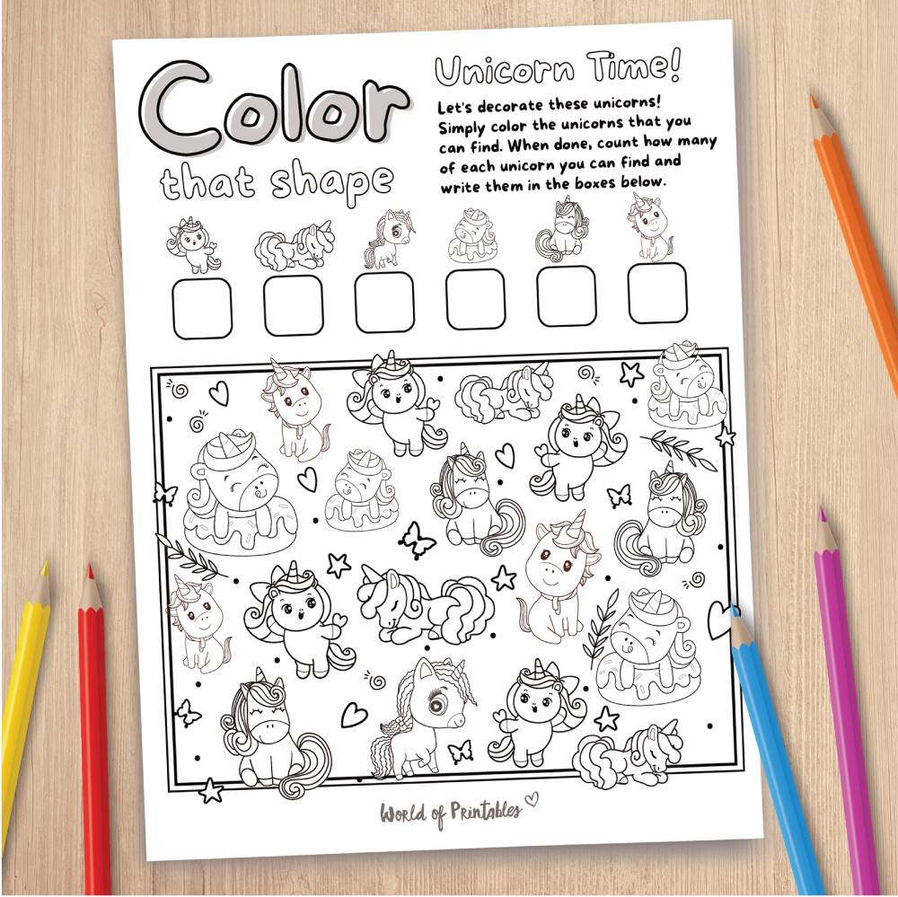 Unicorn Coloring Page Game