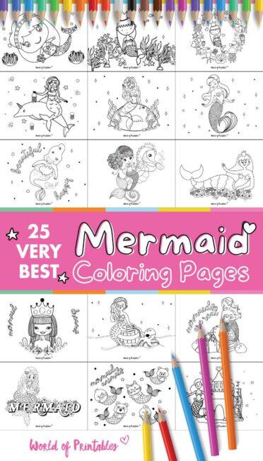 Very Best Mermaid Coloring Pages