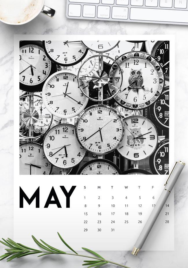 creative photography calendar 2022 free printable
