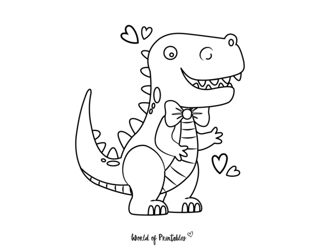 cute dinosaur coloring pages