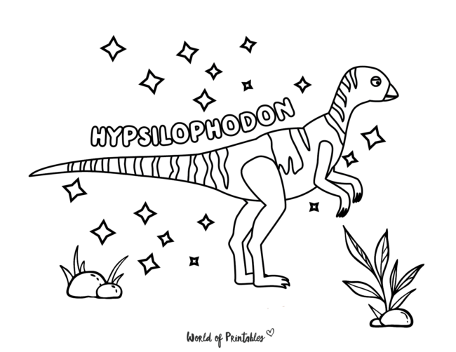 hypsilophodon coloring page