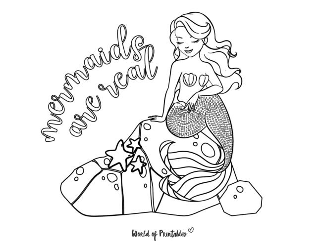 mermaid are real coloring sheet
