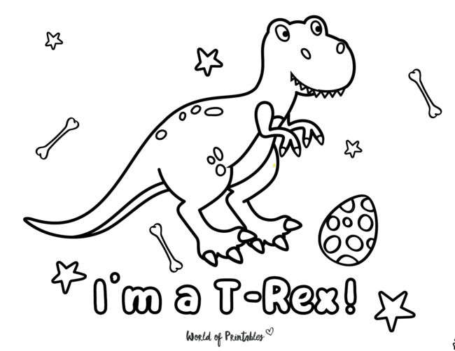 t rex colouring