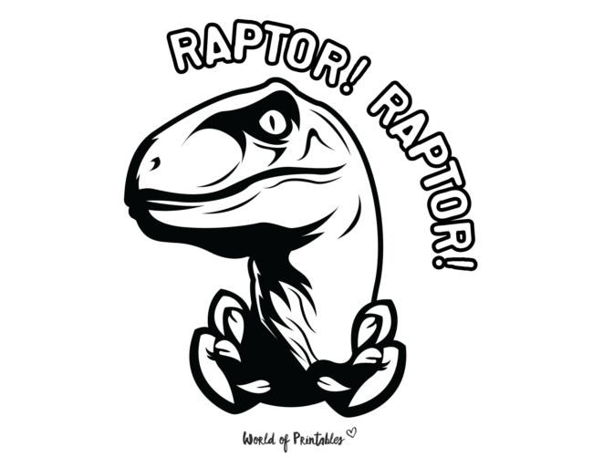 velociraptor coloring page