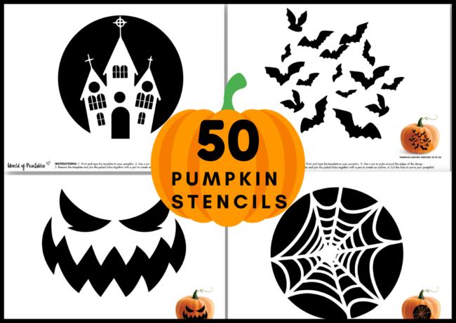 50 Pumpkin Stencils for carving