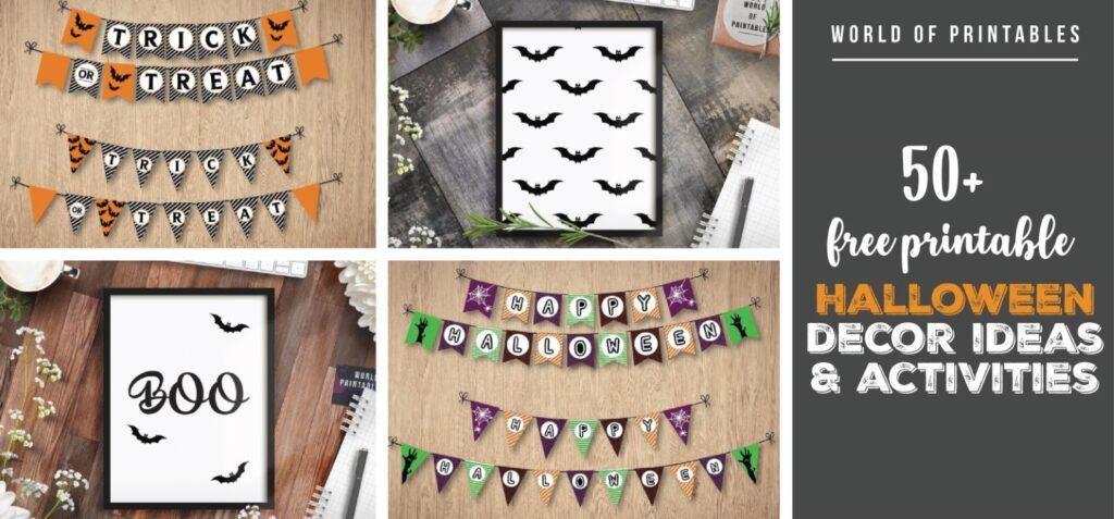 50+ free printable halloween decor and activities