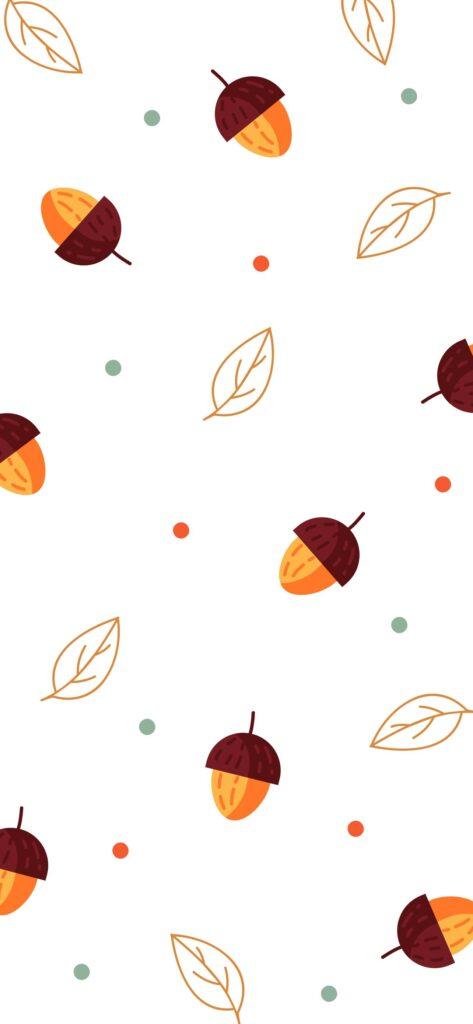 Acorn Fall Background iPhone