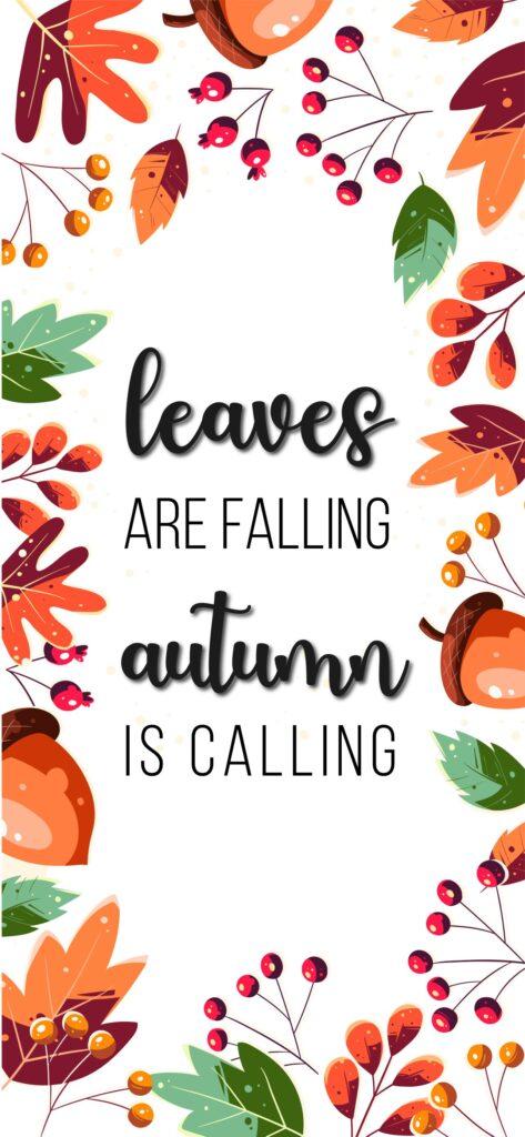 Autumn is Calling Cute Fall Wallpaper