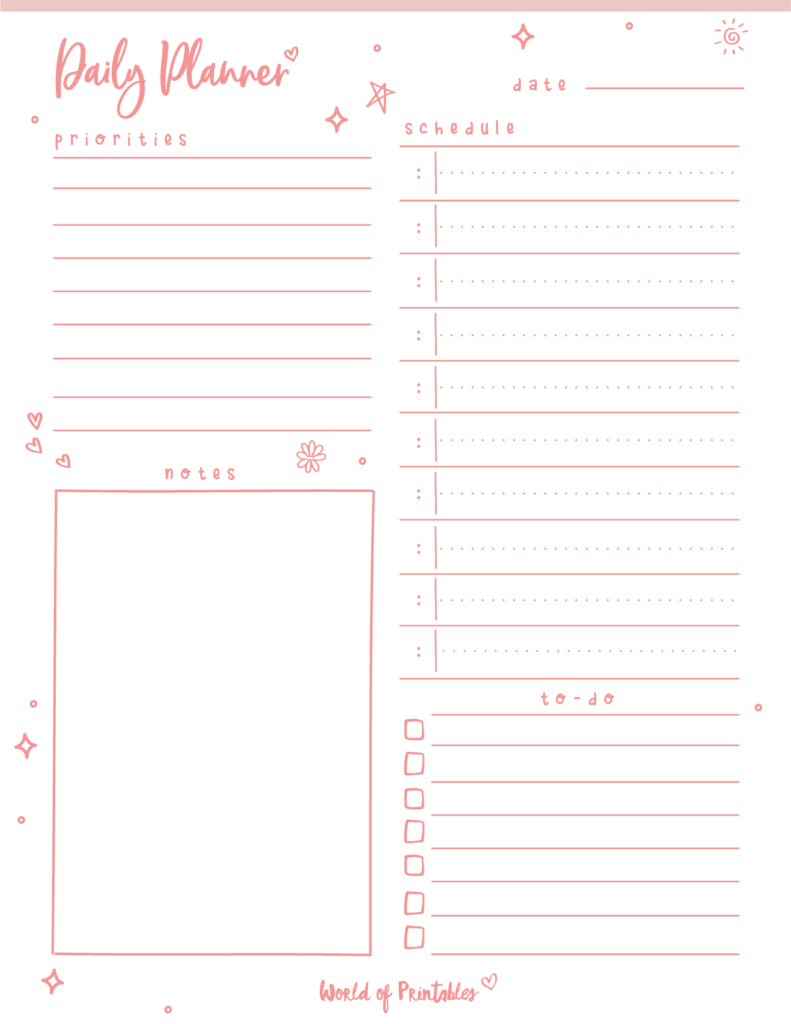 Cute October 2021 Daily Planner Printable