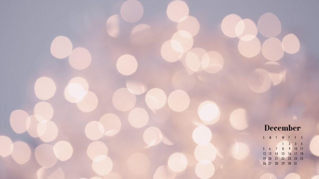 December 2021 Calendar Wallpaper Glittery Bokeh Background