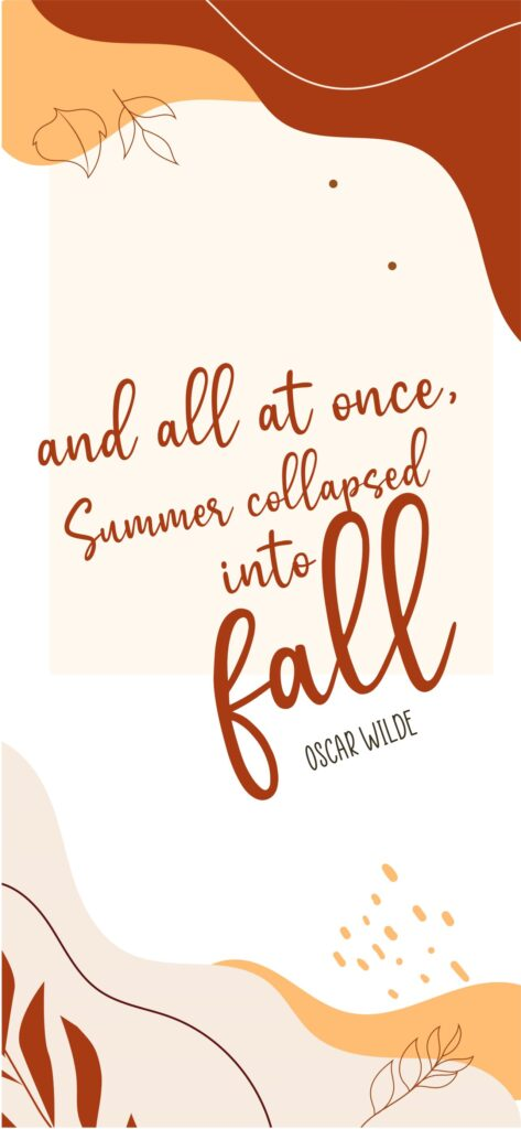 Fall Quote Aesthetic Fall Wallpaper