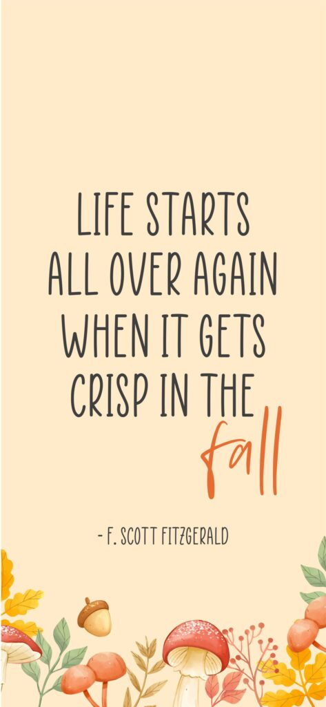Fall Quote Cute Fall Background