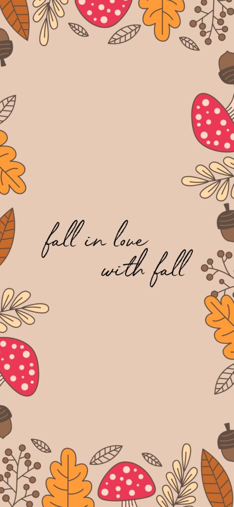 Fall in Love With Fall Autumn Wallpaper