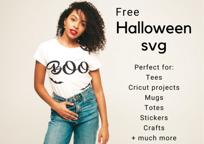 Free Halloween Boo SVG for crafts