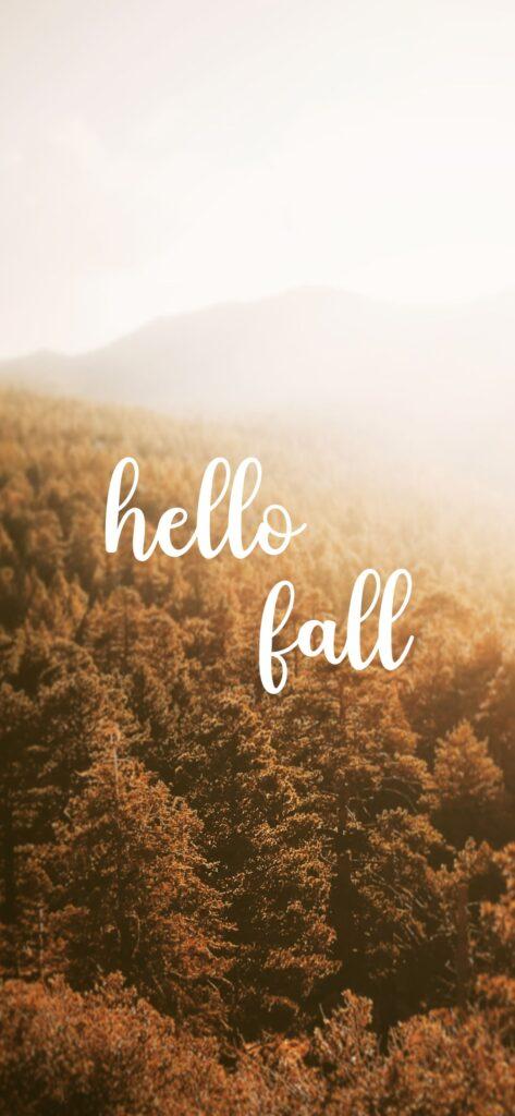 Hello Fall Mountain Fall Background