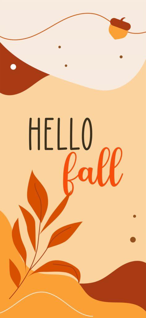 Hello Fall Quote Autumn Background