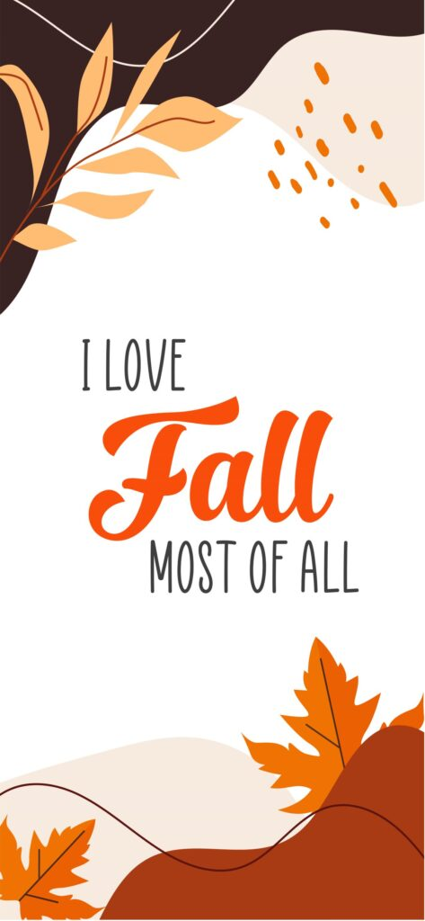I Love Fall Cute Fall Wallpaper