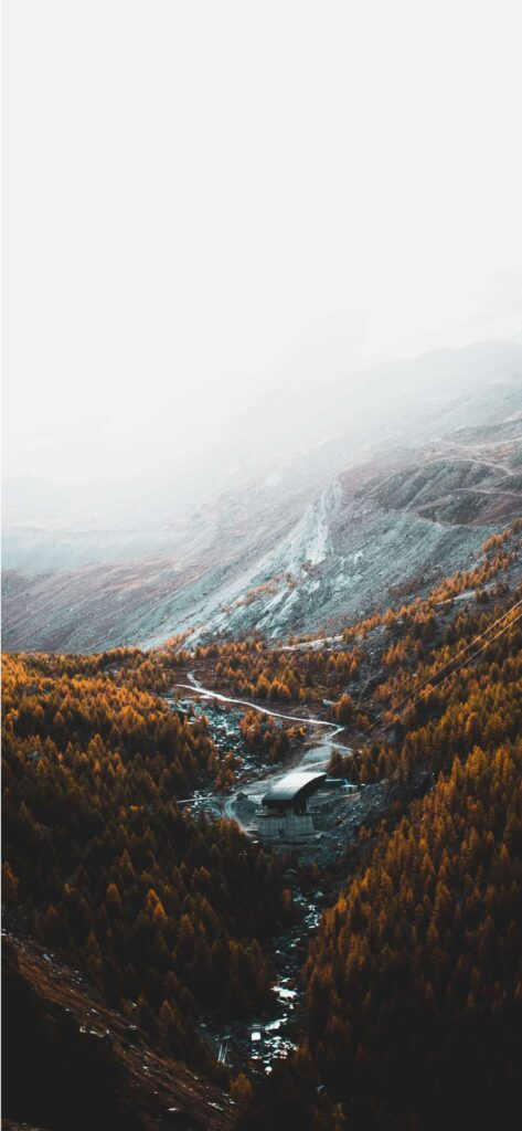 Mountain River Fall Background