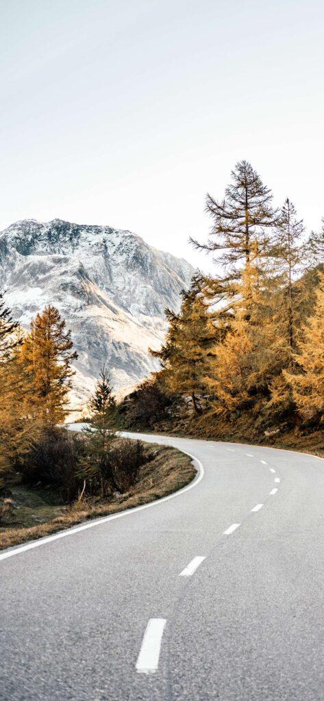 Mountain Road Fall Wallpaper iPhone