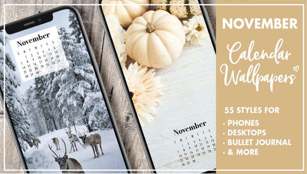 November Calendar Wallpapers
