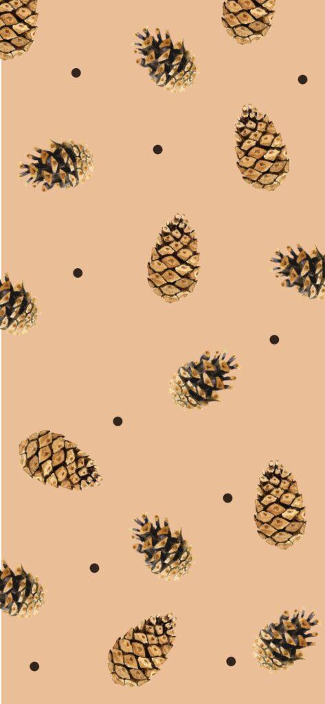 Pine Cone Autumn Background