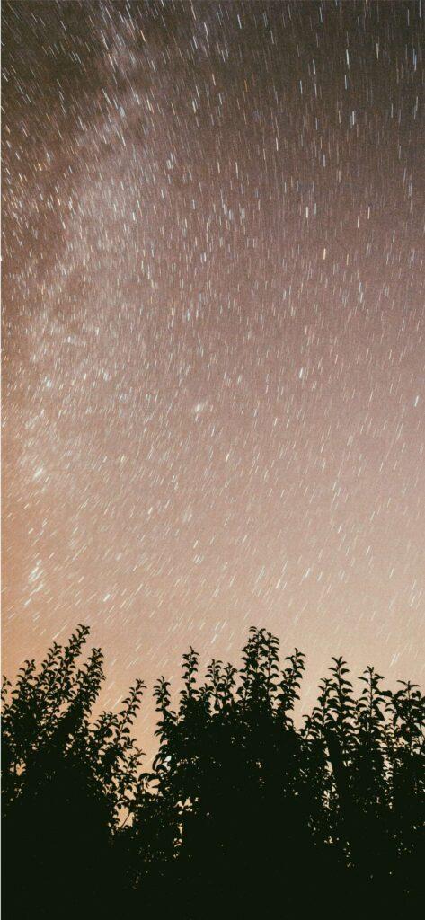 Starry Sky Fall Wallpaper iPhone