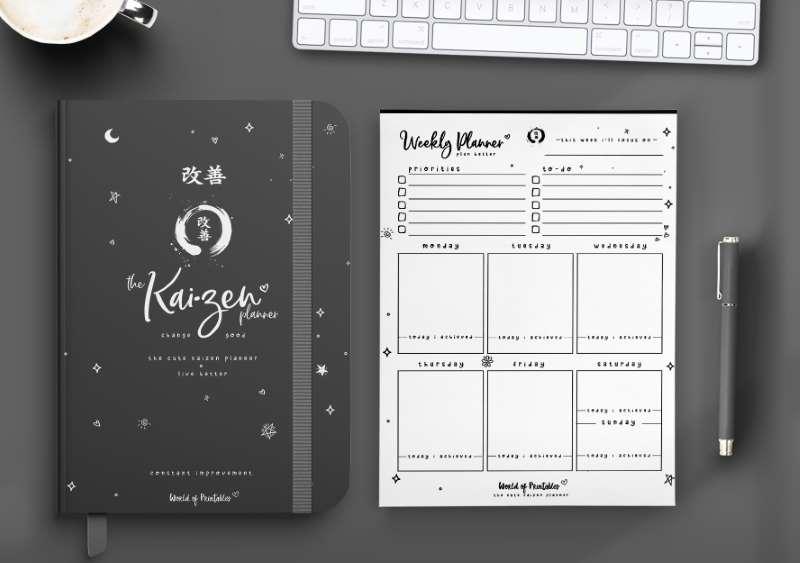 The Cute Kaizen Planner in black