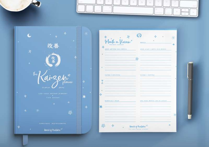 The Cute Kaizen Planner in blue