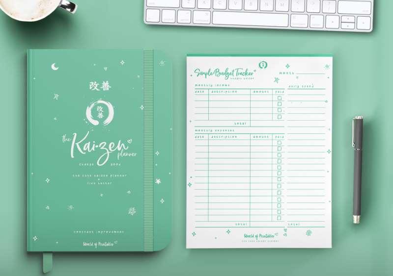 The Cute Kaizen Planner in green