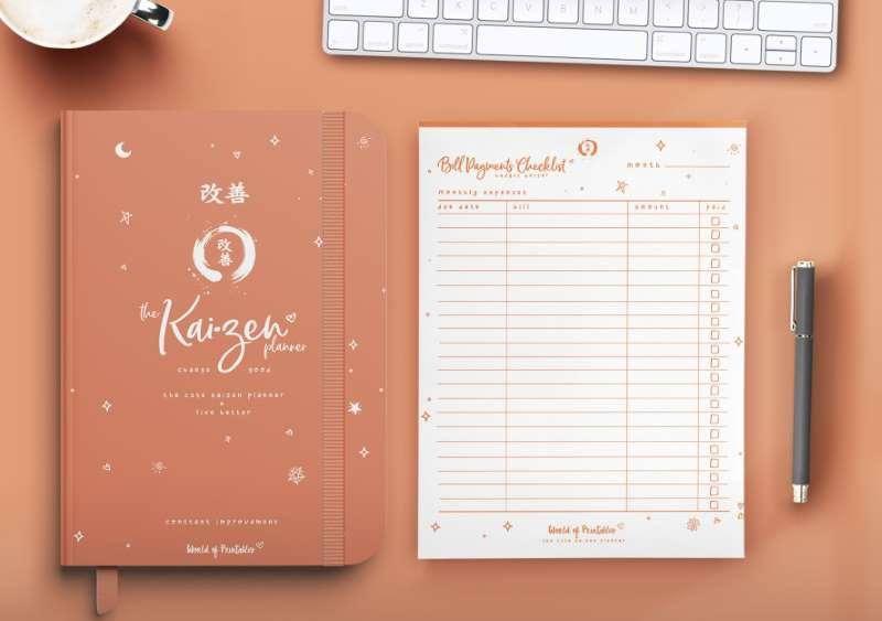 The Cute Kaizen Planner in orange
