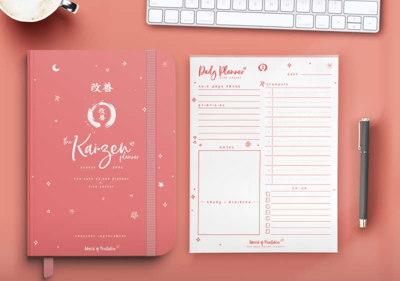 The Cute Kaizen Planner in pink