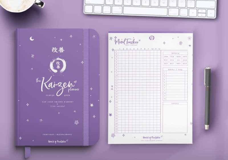 The Cute Kaizen Planner in purple