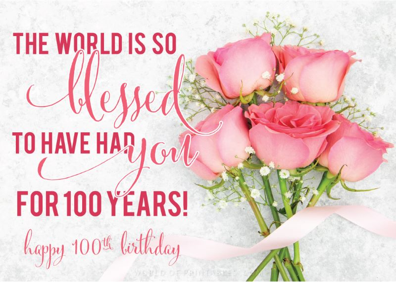 birthday wishes-happy-100th-birthday-the-world-is-blessed-to-have-had-you