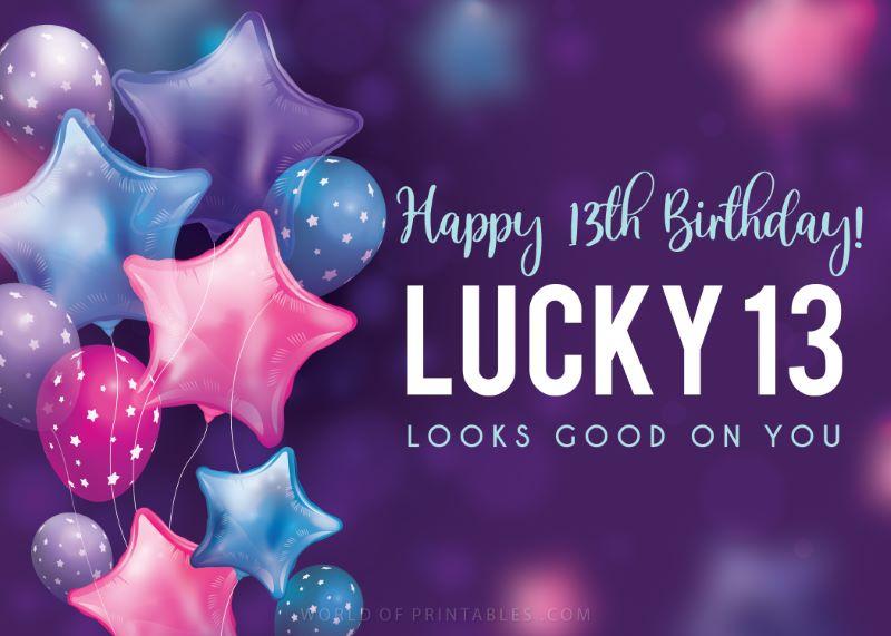 birthday wishes-happy-13th-birthday-lucky-13