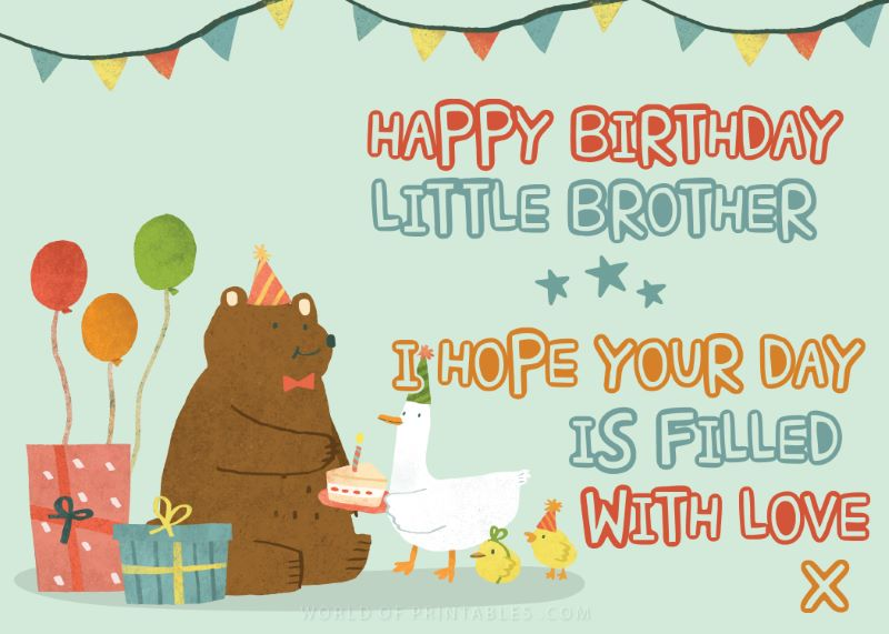 birthday wishes-happy-birthday-brother  I hope your day is filled with love