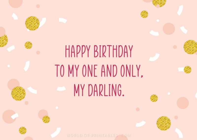 birthday wishes-happy-birthday-fiance to my one and only darling