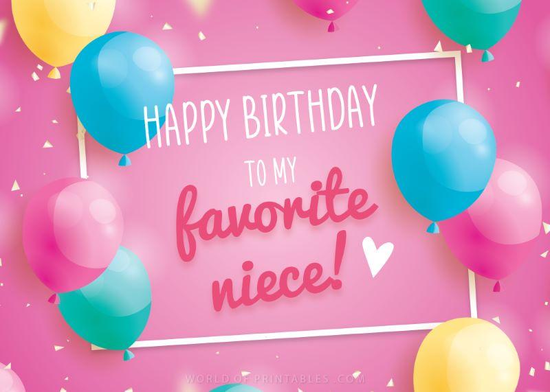 birthday wishes-happy-birthday-niece to my favorite niece.